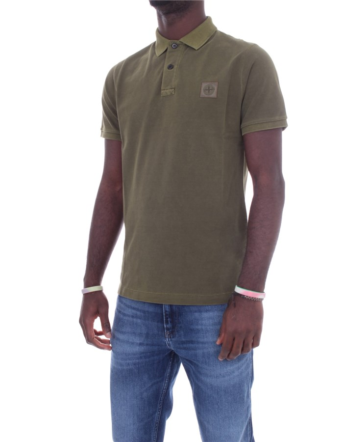 STONE ISLAND Short sleeve Military