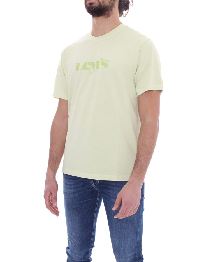 LEVI'S Short sleeve Lime garment