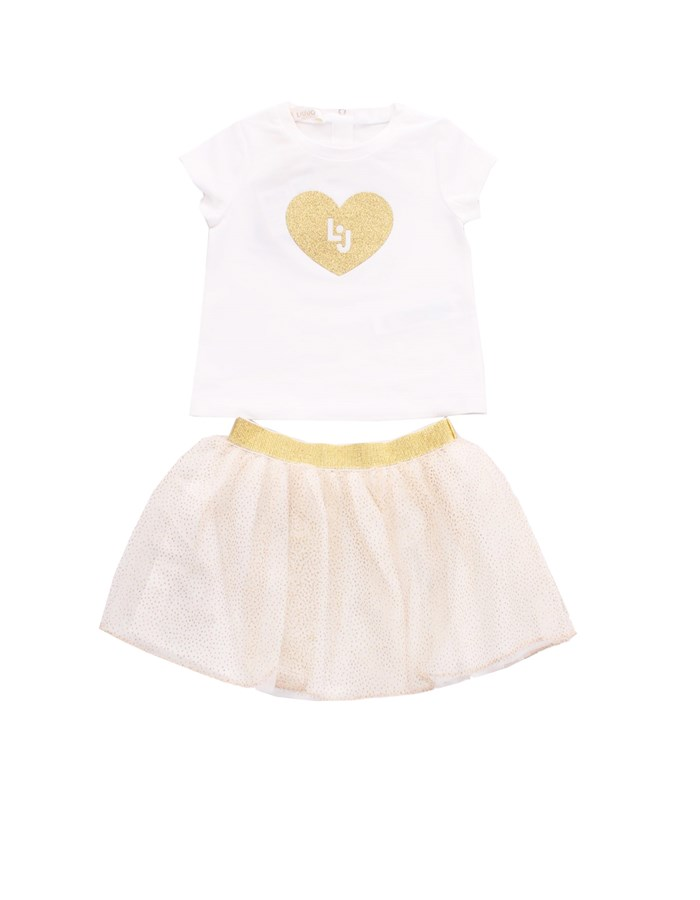 LIU JO Skirt + T-shirt White gold