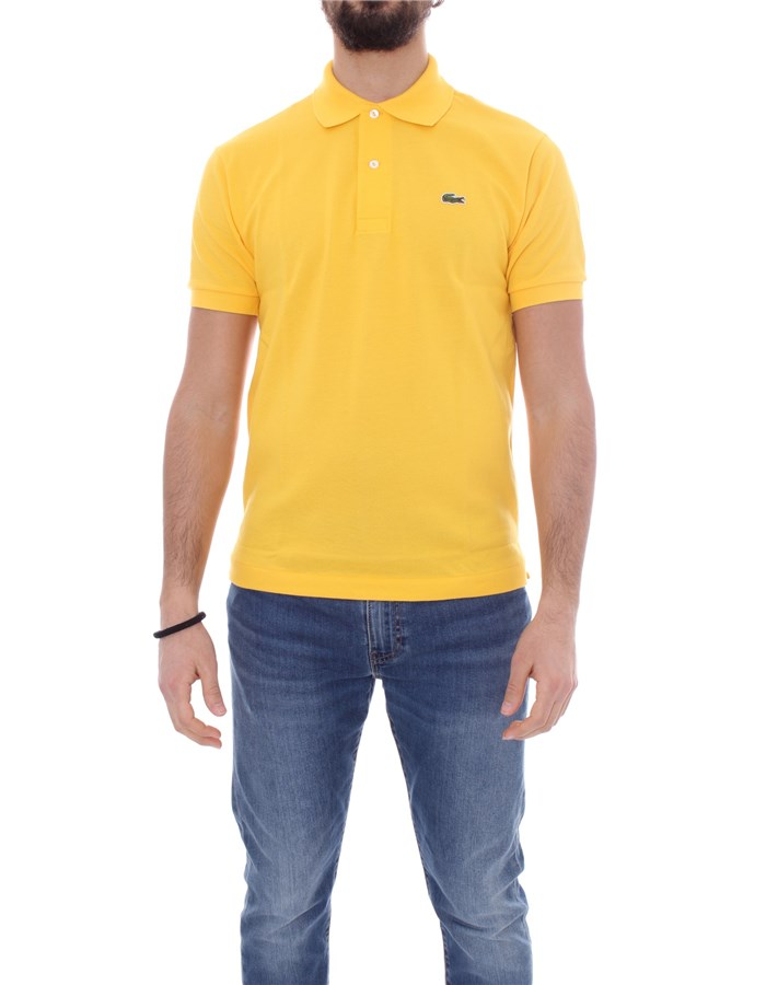 LACOSTE Short sleeve Yellow
