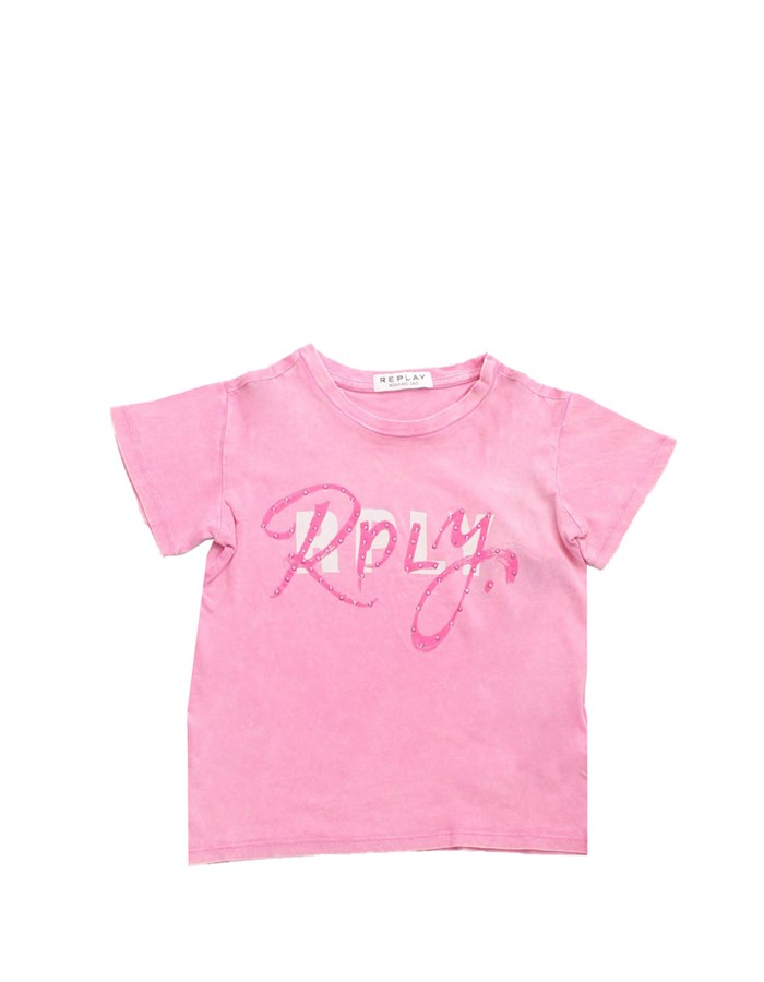 REPLAY KIDS Short sleeve Pink