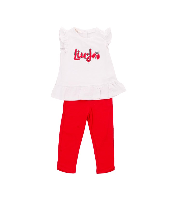 LIU JO T-shirt + Jeans White Red