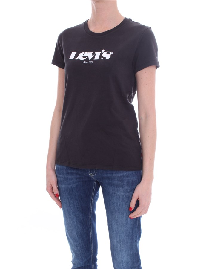 LEVI'S Short sleeve Black White