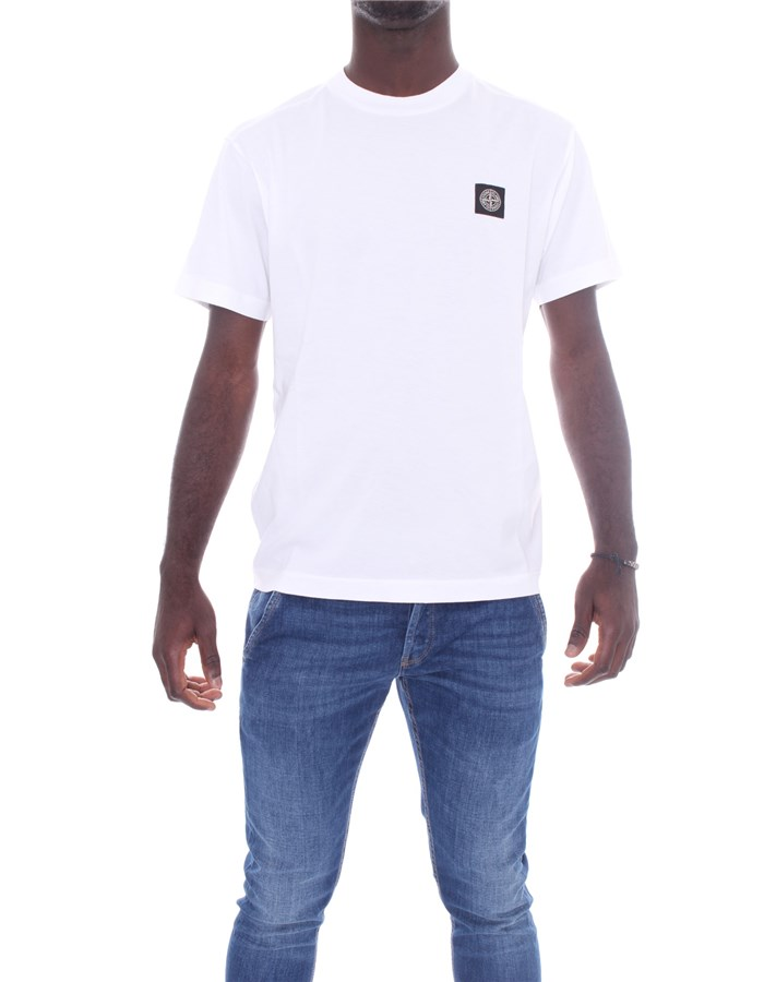 STONE ISLAND T-shirt Short sleeve 741524113 White