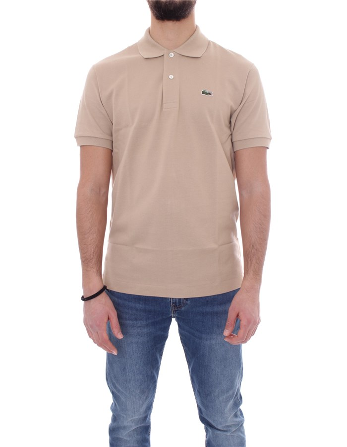 LACOSTE T-shirt Short sleeve 1212 Sand