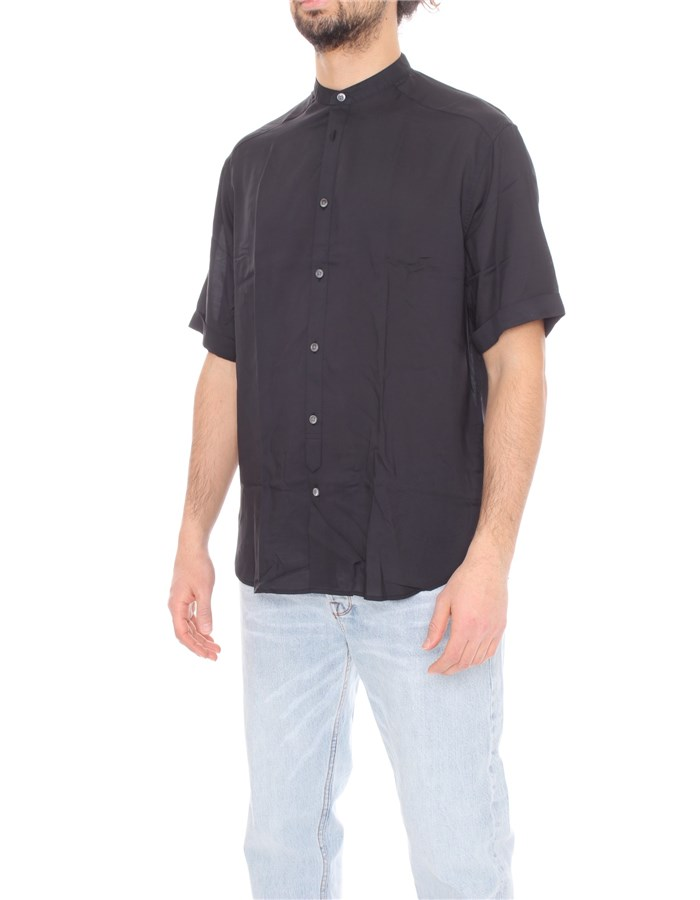 EMPORIO ARMANI Short sleeve shirts Black