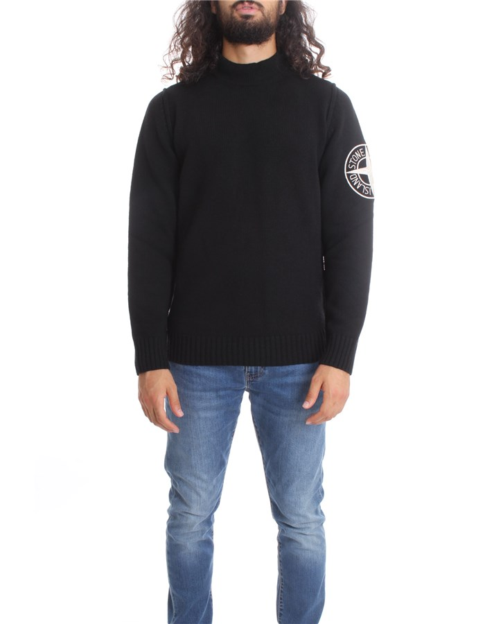 STONE ISLAND High Neck  Black