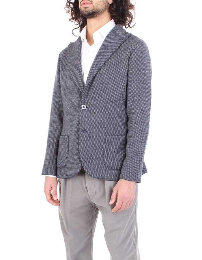 LARDINI Jacket Blue gray