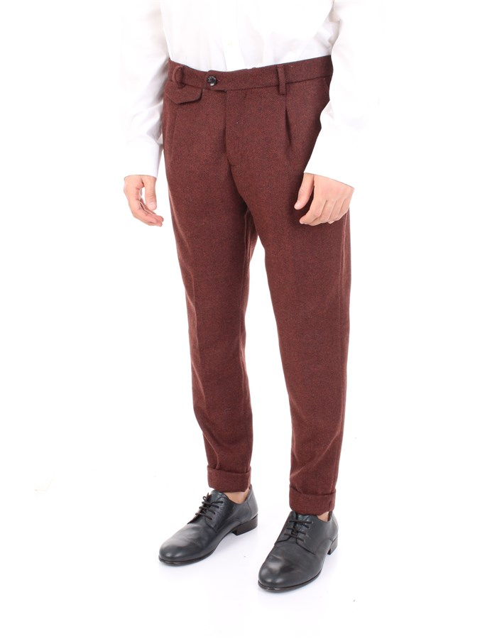 YAN SIMMONS Trousers Bordeau
