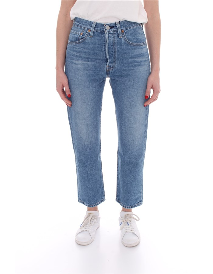 LEVI'S Cropped Medium blue