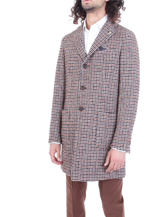 MANUEL RITZ Coat Black brown