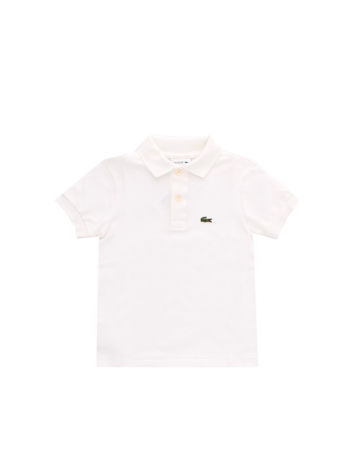 LACOSTE Short sleeves White