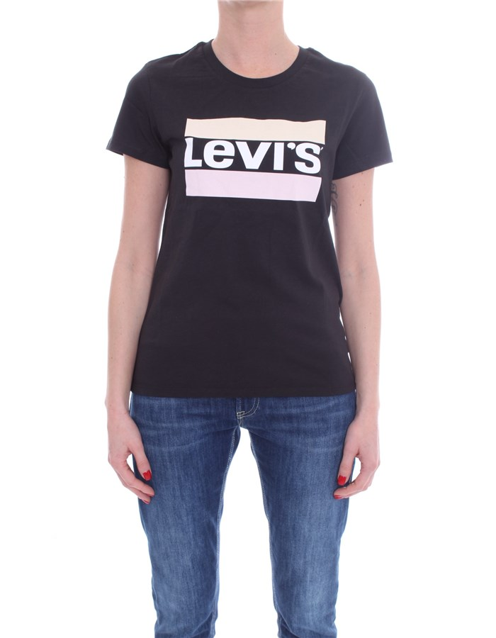 LEVI'S Short sleeve Black sportswear