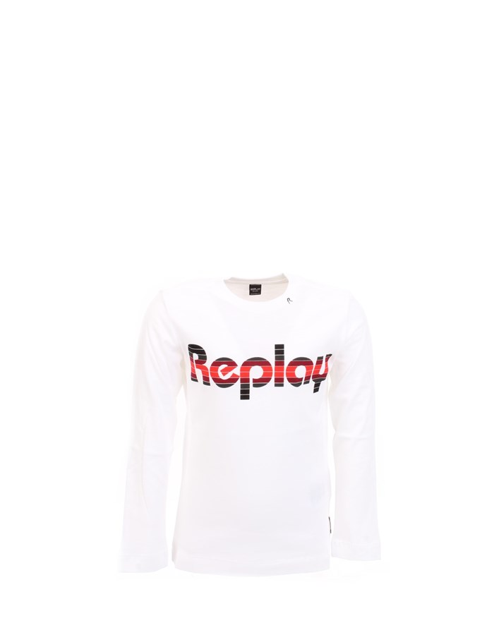REPLAY T-shirt White Red
