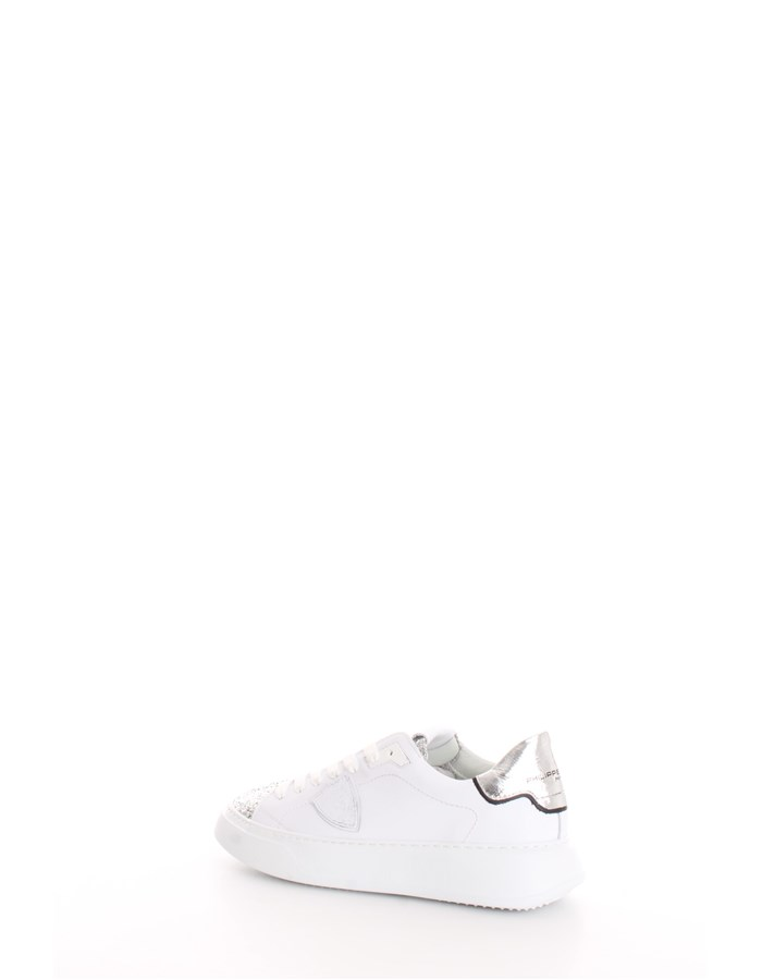 PHILIPPE MODEL Trainers Silver white