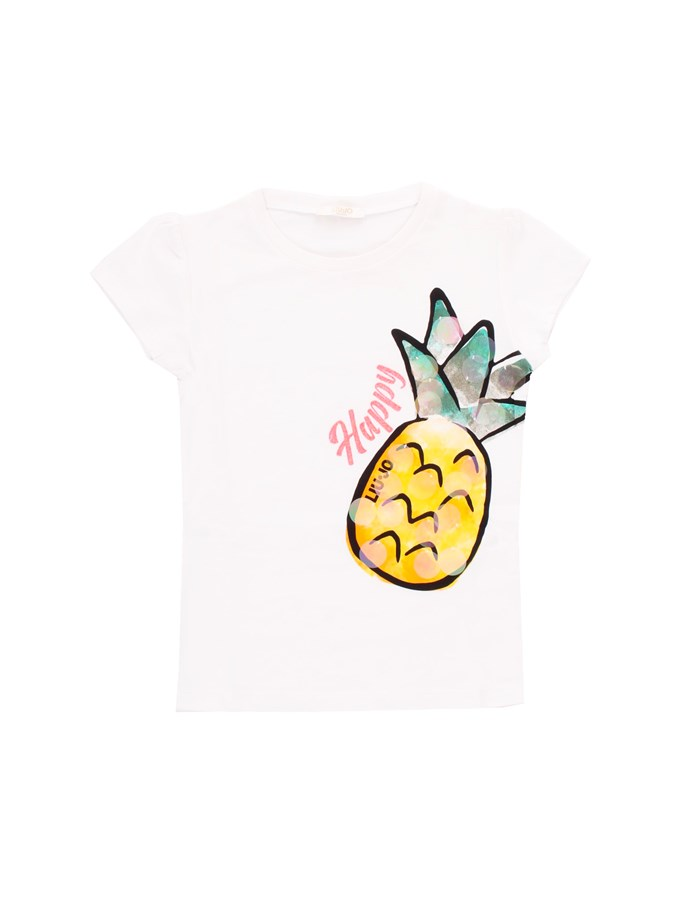 LIU JO T-shirt Short sleeve KA1125 J5003 White pineapple