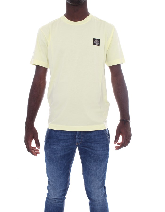 STONE ISLAND T-shirt Short sleeve 741524113 Lemon