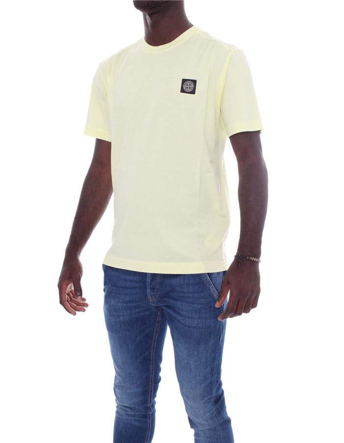STONE ISLAND Short sleeve Lemon