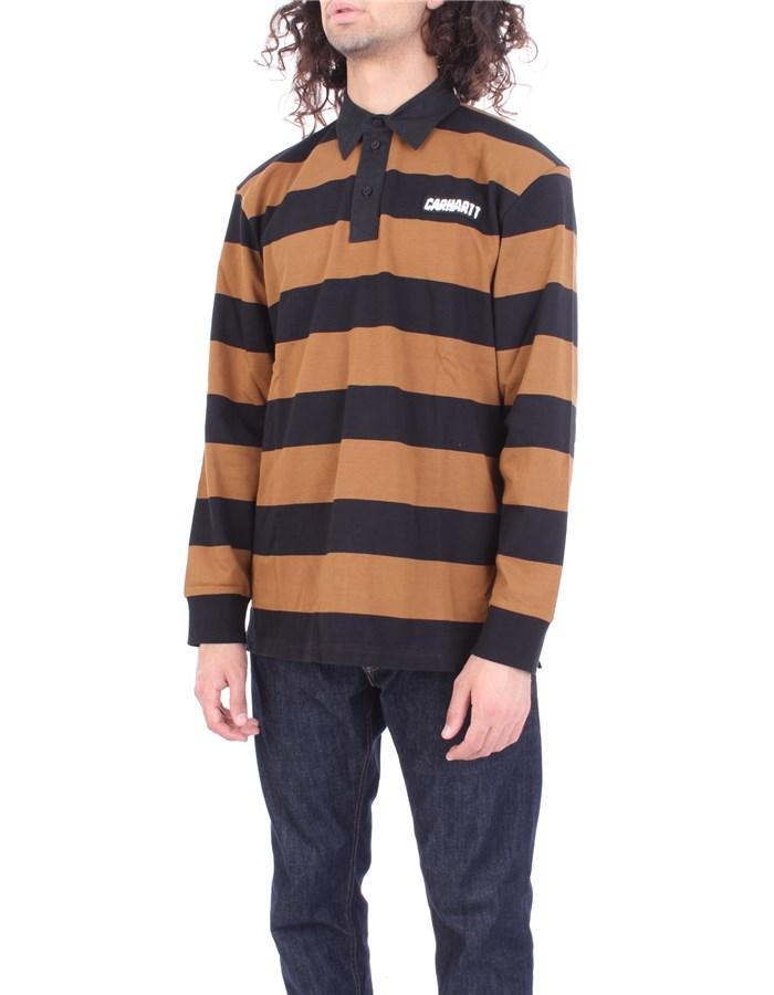 CARHARTT Polo shirt Hamilton brown