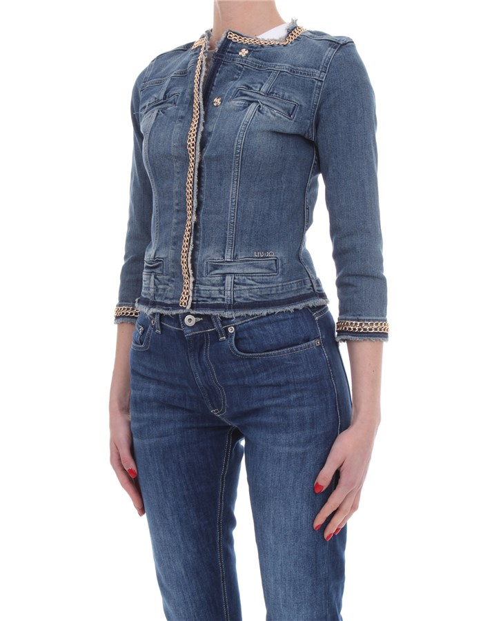 LIU JO Denim jackets Blue