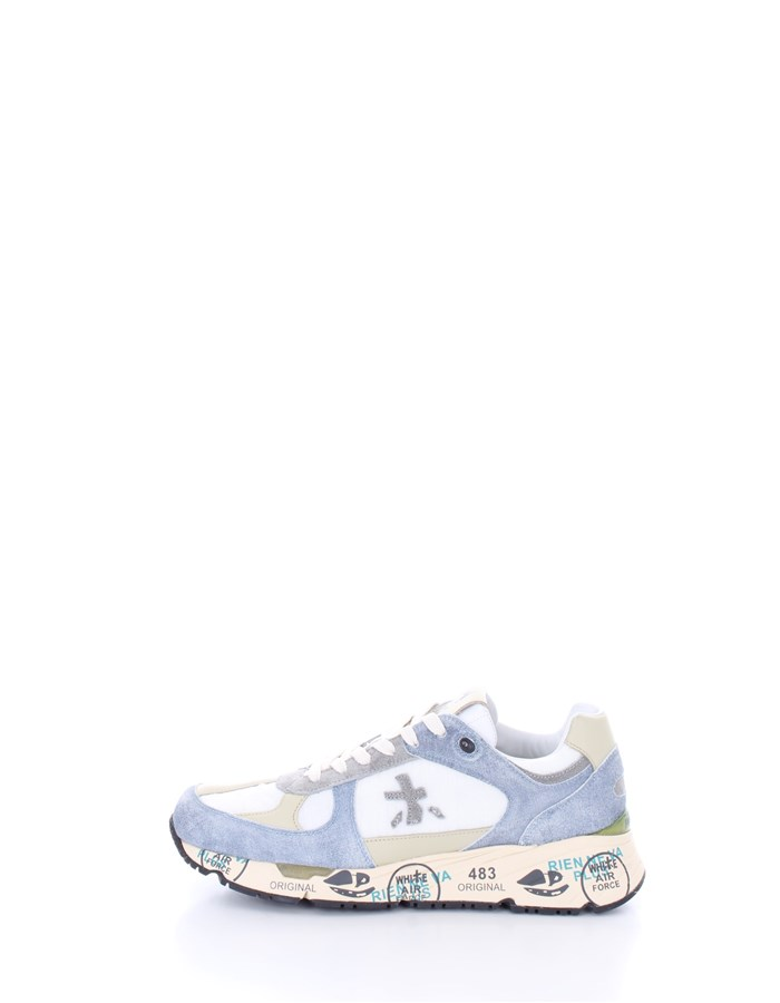 PREMIATA  low white denim