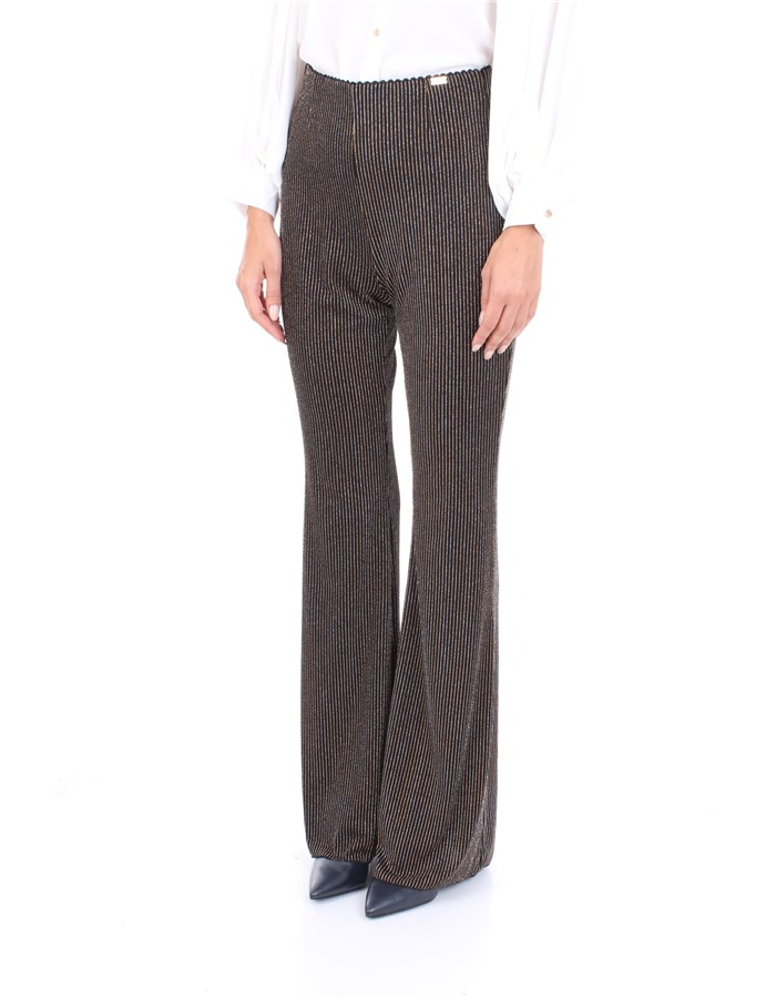 NENETTE Trousers Black gold