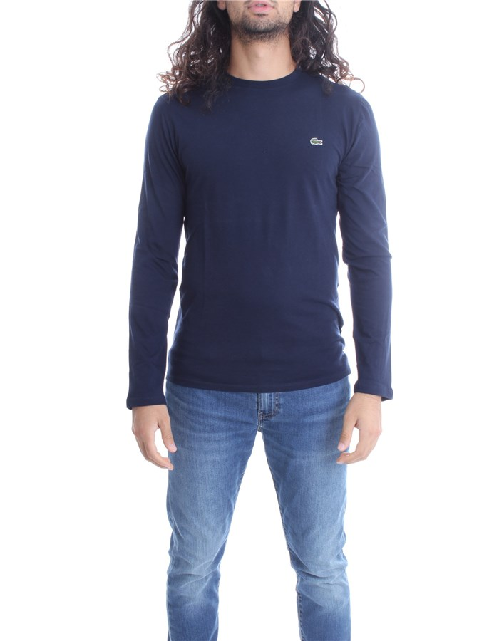 LACOSTE Long sleeve Blue