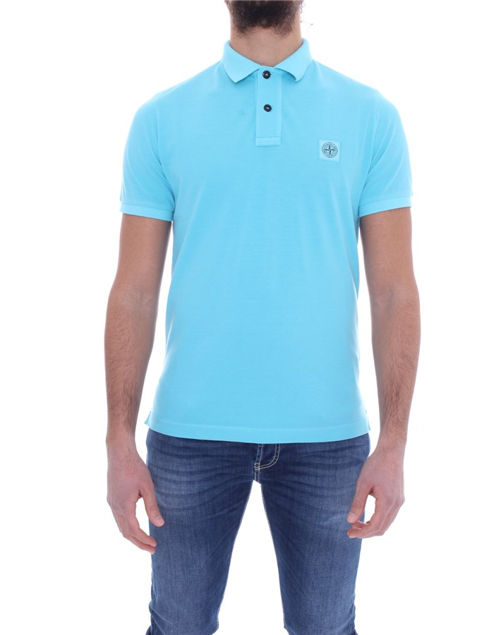 STONE ISLAND Polo shirt Short sleeves 741522S67 Turquoise