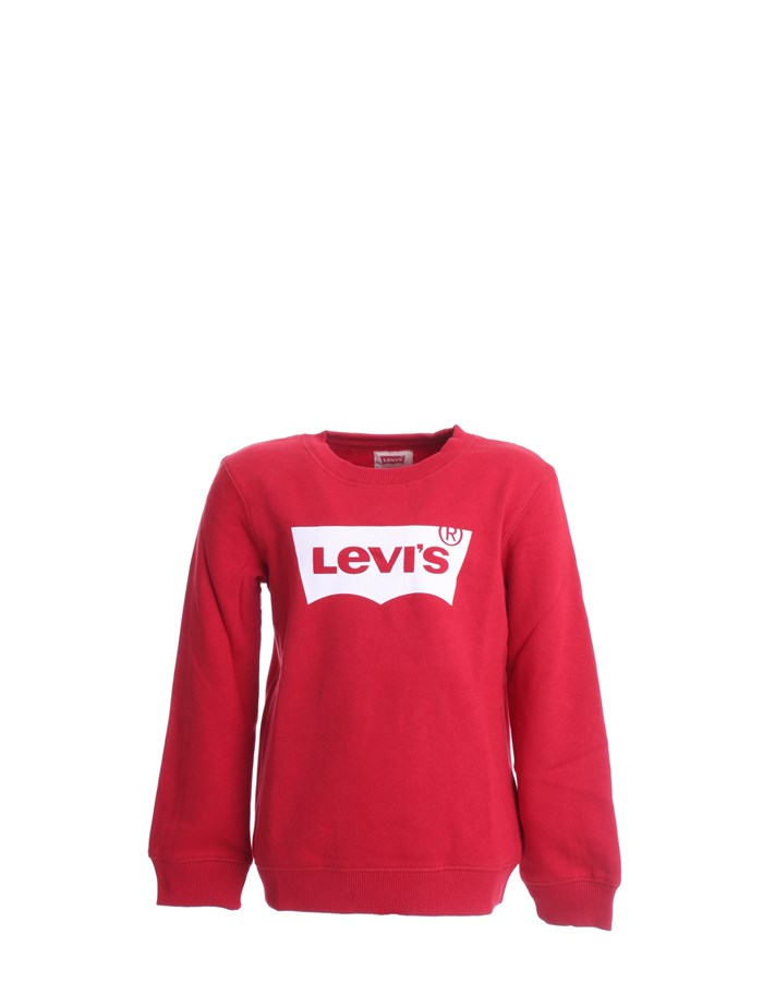 LEVI'S Sweatshirts Crewneck  8E9079 Red