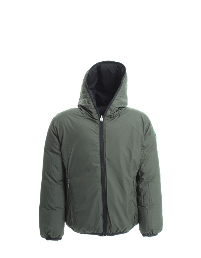 SAVE THE DUCK Jacket Black green