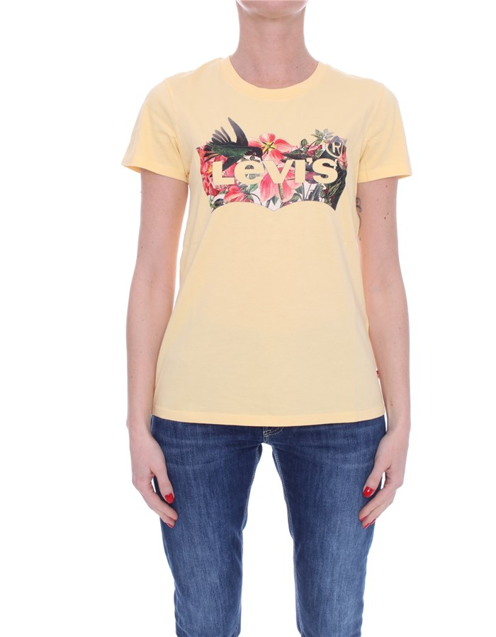 LEVI'S Short sleeve Yellow flowers