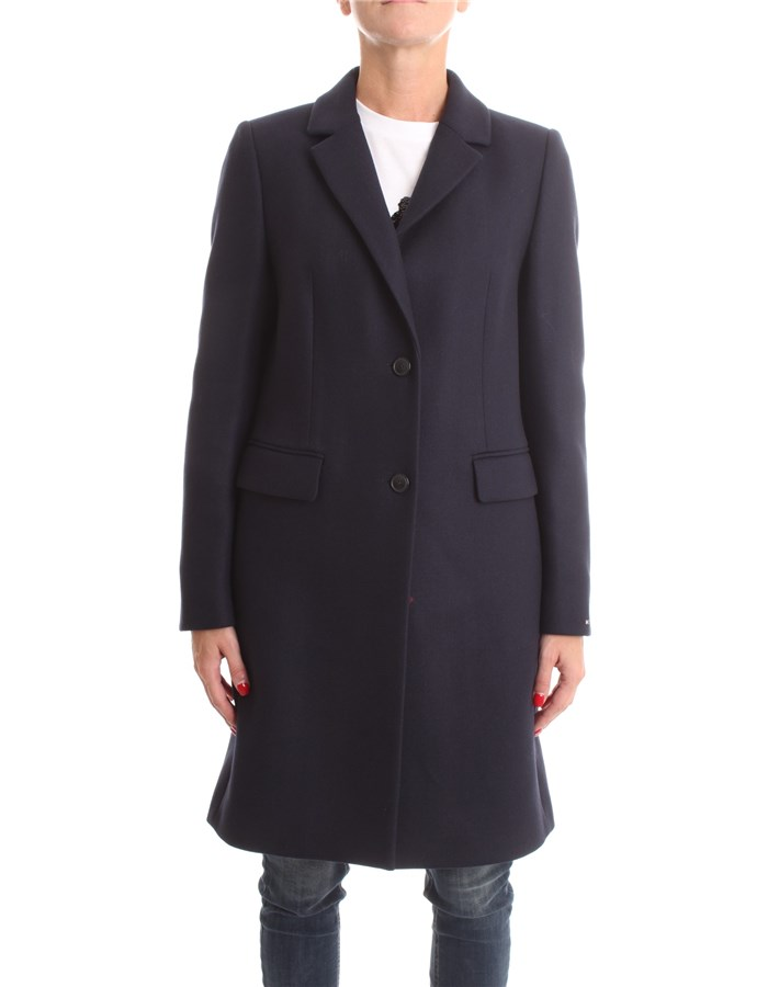 TOMMY HILFIGER Overcoat Blue