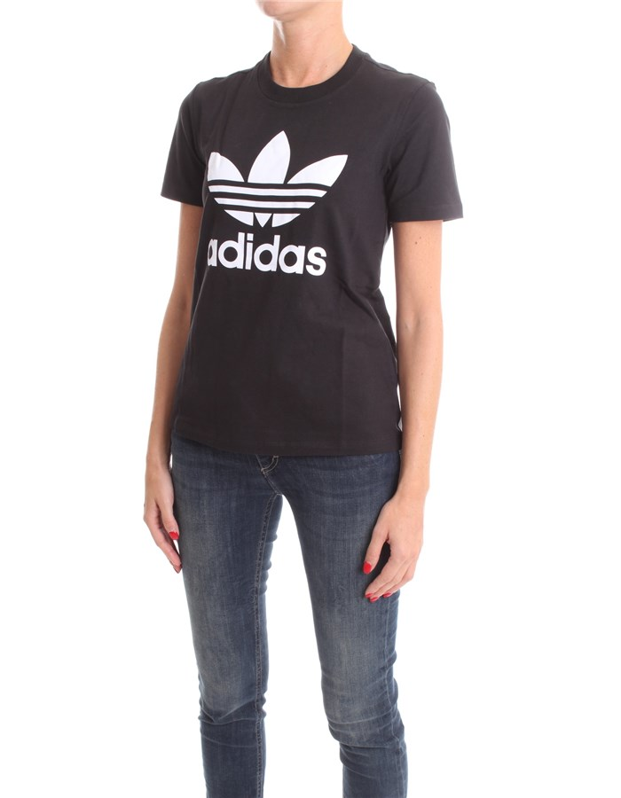 ADIDAS Short sleeve Black white