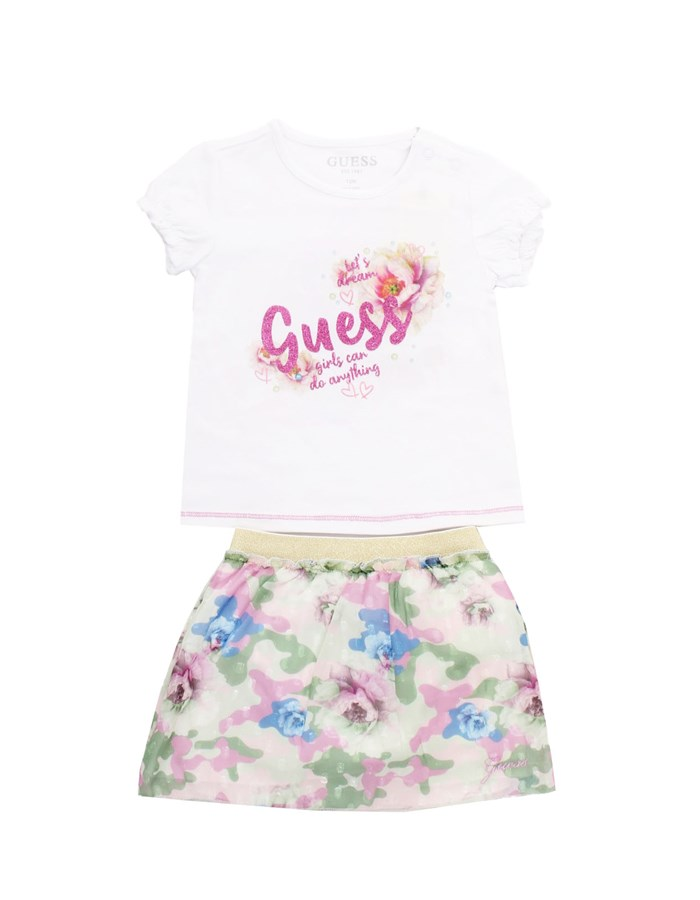 GUESS Skirt + T-shirt White
