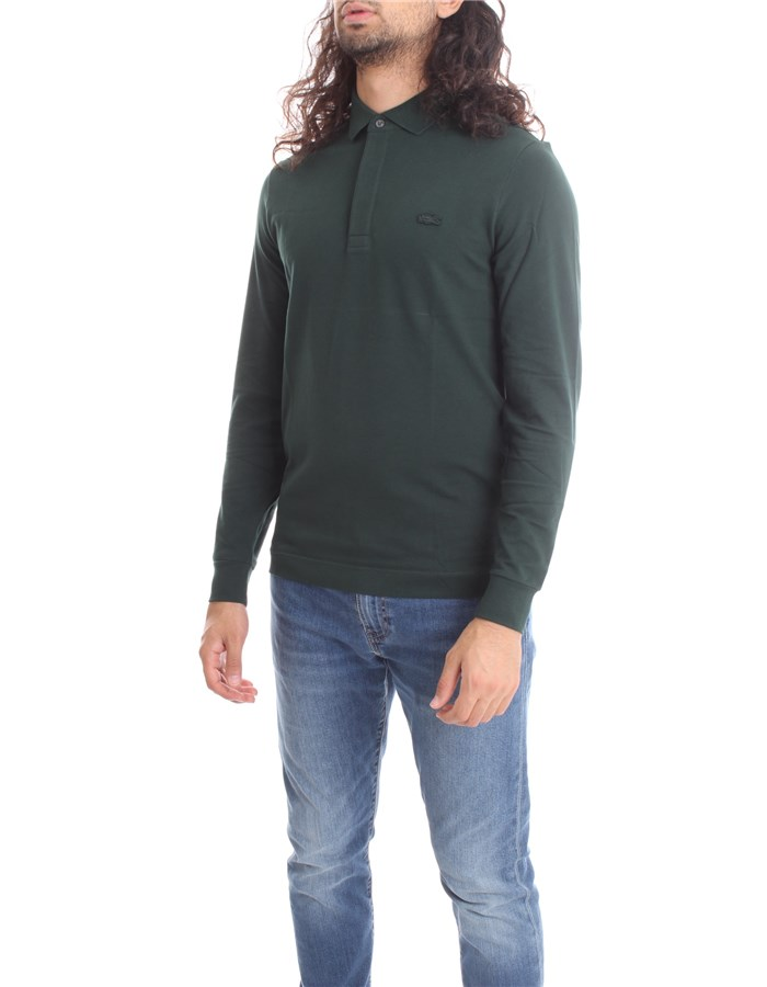 LACOSTE  Long sleeves English green