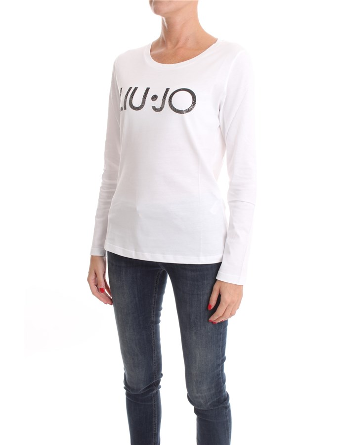 LIU JO Long sleeve White rhinestone