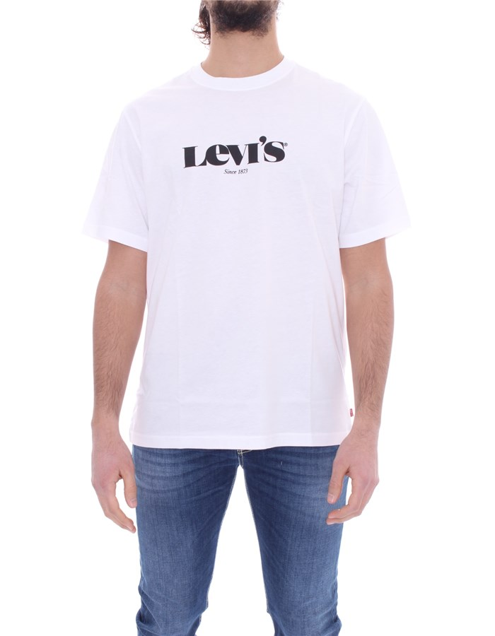 LEVI'S Short sleeve White black