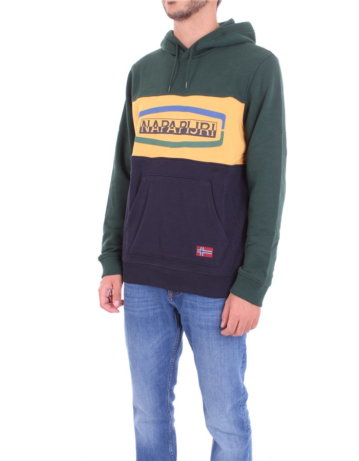 NAPAPIJRI Sweatshirt Black green