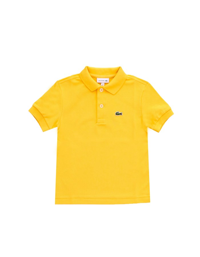 LACOSTE Short sleeves Yellow