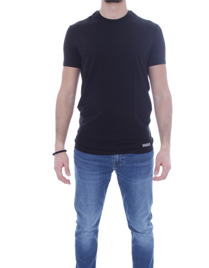DSQUARED2 Short sleeve Black