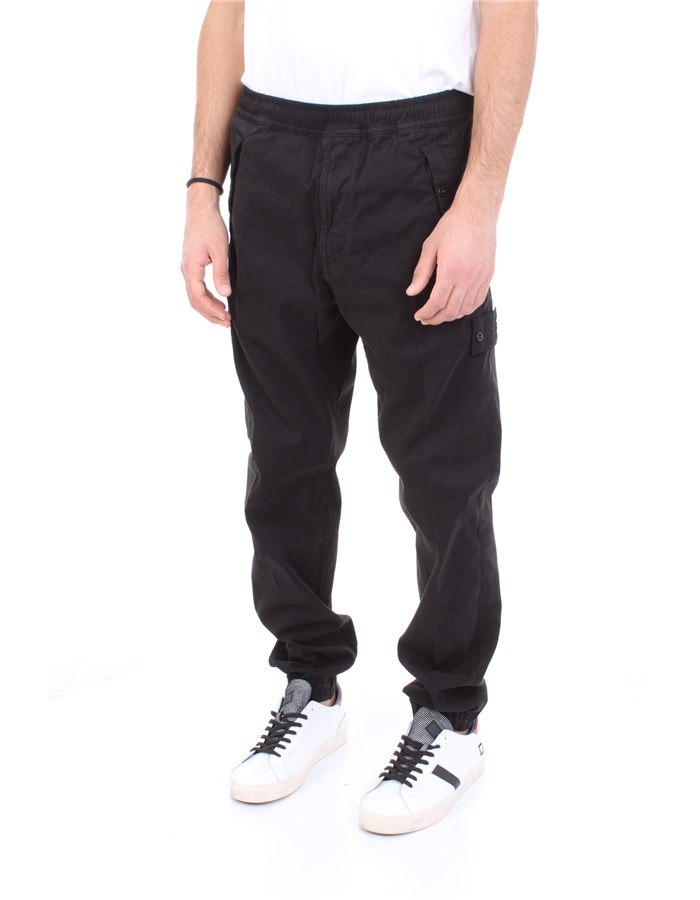 STONE ISLAND Trousers Black
