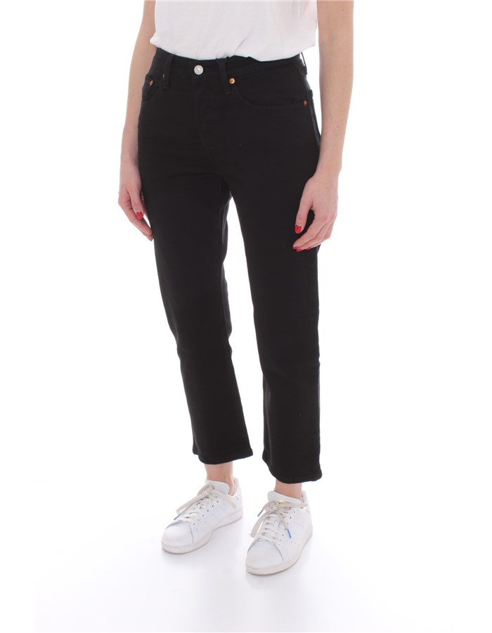 LEVI'S Cropped Black