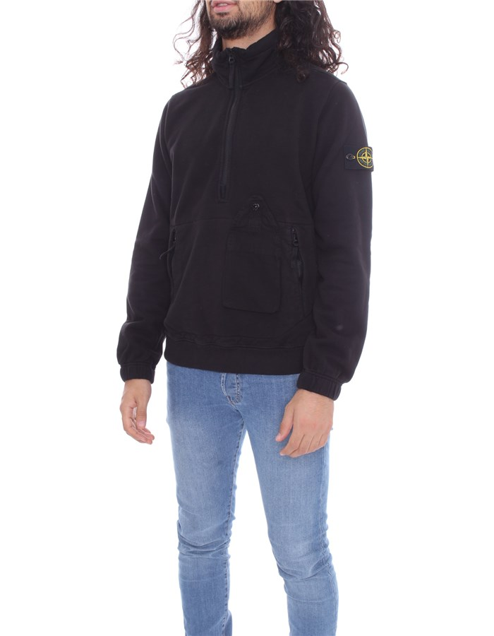 STONE ISLAND  With Zip Black