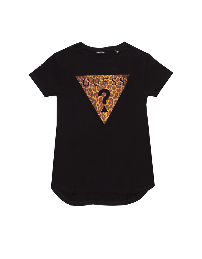 GUESS T-shirt Short sleeve J1RI27K9MV0 Black animalier