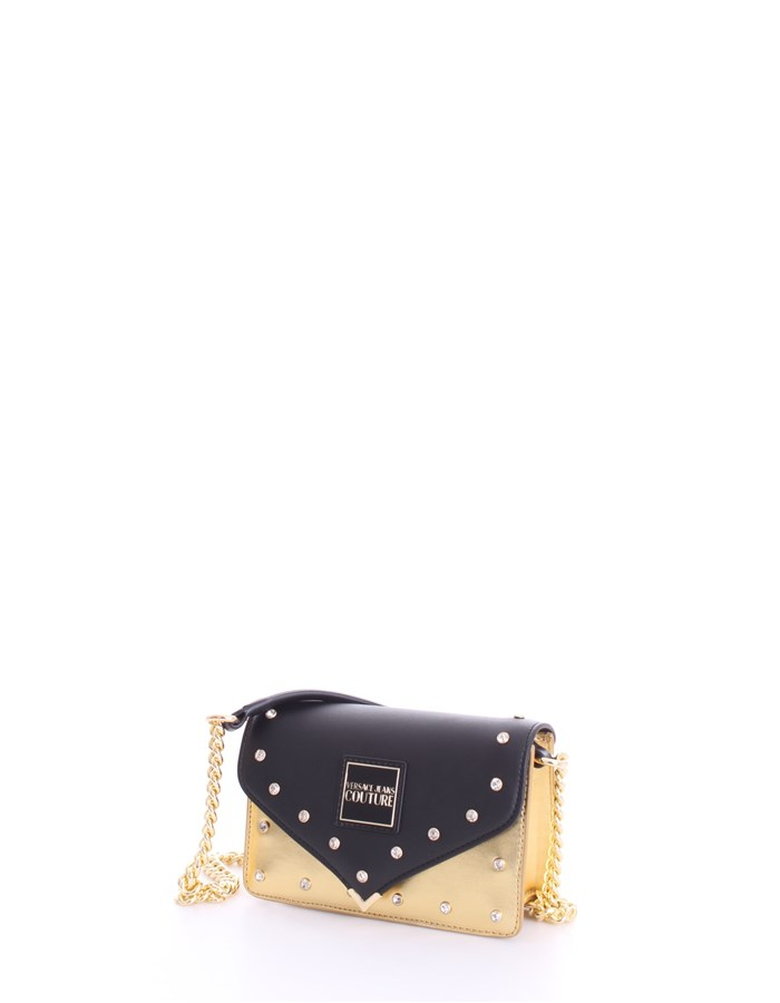 VERSACE Shoulder Bags Black gold