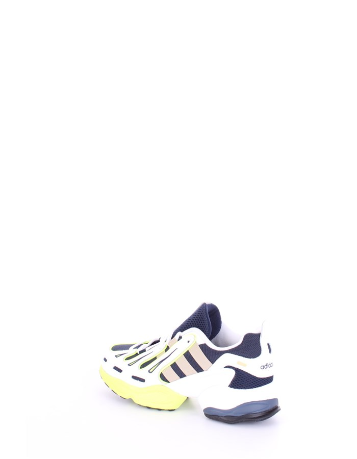 ADIDAS Sneakers White blue gold