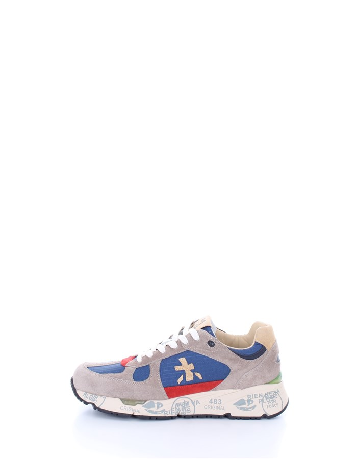 PREMIATA  low Red gray blue
