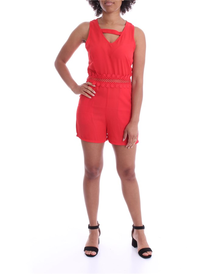 J'AIME' Jumpsuit Red