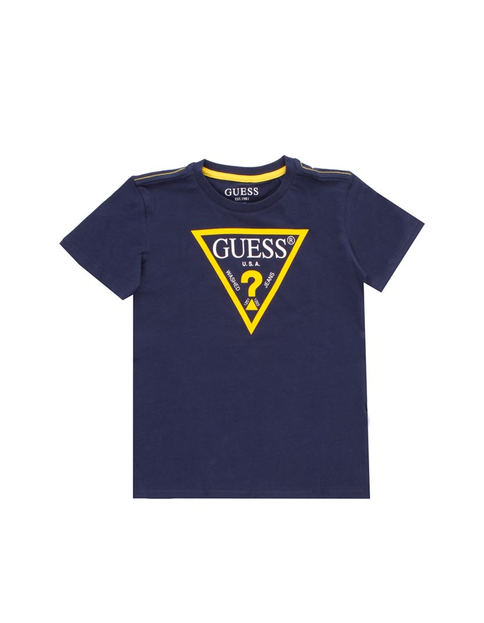 GUESS Short sleeve Blue