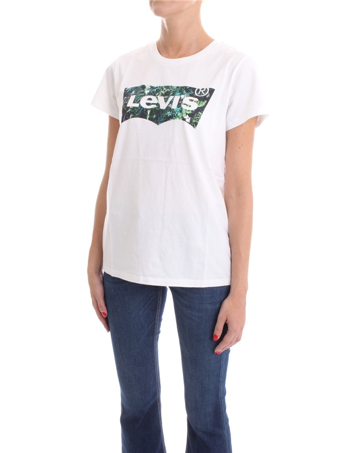 LEVI'S T-shirt White leaves